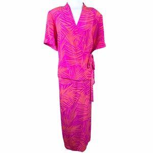 NEW Vintage Spenser Jeremy Silk Maxi Wrap Dress 16